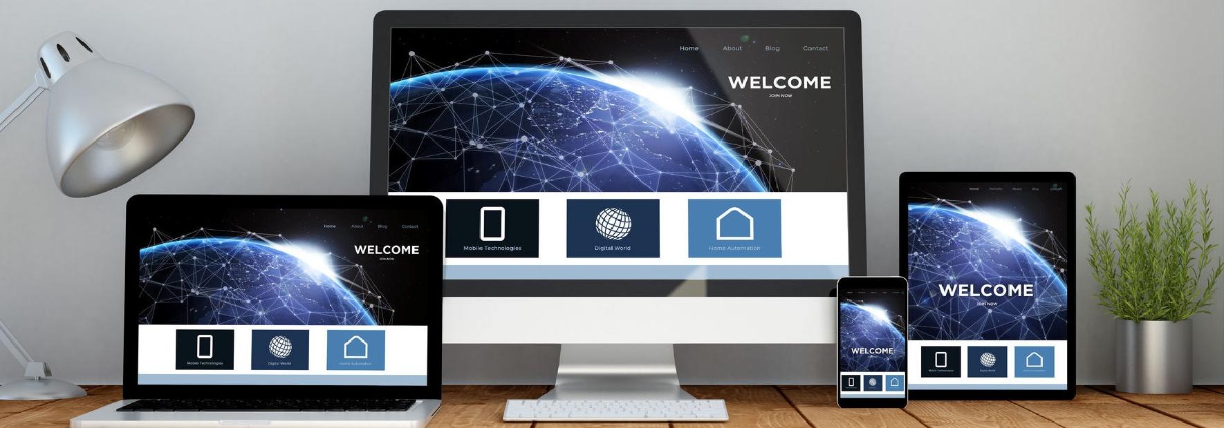 PCサイトとスマートフォンサイトを共通化させます。 ホームページはスマホ対応かどうかが肝心です。