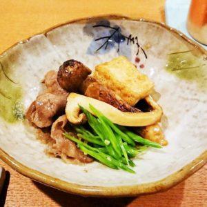 牛肉とマツタケの煮物