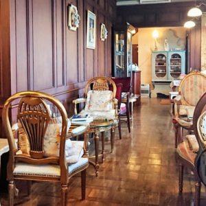 旧茶屋亭 和洋折衷のインテリア